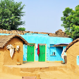 Rajasthani Village by Vijay Govender - Buildings & Architecture Homes ( village, rajasthan, india, homes )