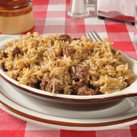 Hamburger And Rice Combo
