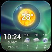 Free Aurora Weather Clock Widget APK for Windows 8