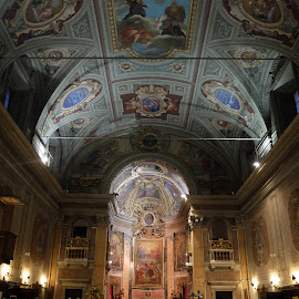 Just an average church in Rome by Phil Collins - Buildings & Architecture Places of Worship ( church, rome, beautiful, celing, light,  )