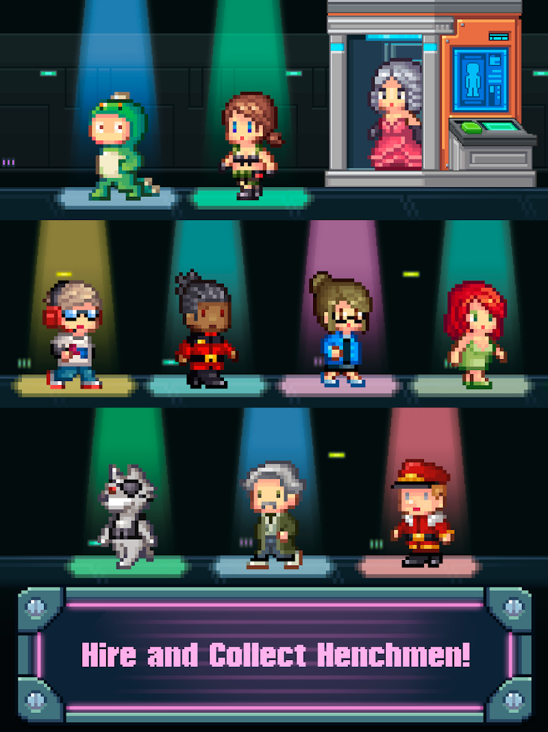 Tap Tap Evil Mastermind - Pixel Idle Clicker Screenshot 6