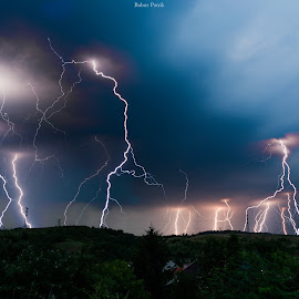 Lightnings by Babus Patrik - Landscapes Weather ( clouds, lightning, sky, weather, nikon, storm, rain )
