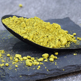 Green Matcha powder in a spoon on a slate colored tile by Dipali S - Food & Drink Ingredients ( aromatic, oriental, powder, matcha, spoon, tea, chinese, asian, powdered, japan, nature, maccha, drink, lifestyle, asia, ingredient, medicine, gourmet, bowl, dry, green, white, traditional, japanese, relaxation, ceremony, organic, wooden, beverage, herb, background, zen, healthy, chlorella, herbal, natural, culture )