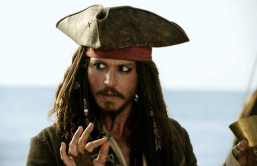 Depp kan ikke komme af med pirat! johnny depp, pirates of the caribbean,