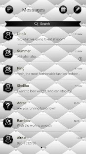 1 (FREE)GO SMS BLACK&WHITE THEME App screenshot