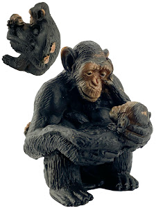 "Игрушка-фигурка серии ""Город Игр"", шимпанзе M2, с детенышем"