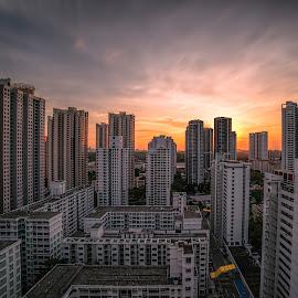 by Gordon Koh - City,  Street & Park  Neighborhoods