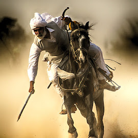 Chacha Aya by Abdul Rehman - Sports & Fitness Other Sports ( horseback, natural light, pakistan, sand, adventure, thrilling, horse, dust, sport, dangerous, rural, baluchistan,  )
