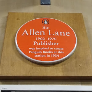 Sir  Allen Lane  1902 - 1970  Publisher  was inspired to create  Penguin Books at this  station in 1934  Submitted by @Katherine_McDon