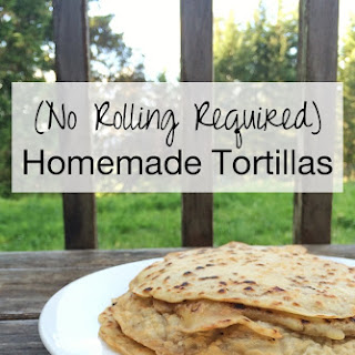 {No-Rolling Required} Homemade Sourdough Tortillas