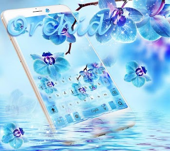 Blue orchid Keyboard theme for pc