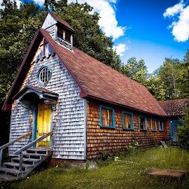 Vieille église a Blue Sea by Philippe Lacroix - Buildings & Architecture Places of Worship