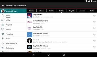 Screenshot of Claro Música