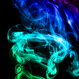 Ice Cream Smoke by Troy Wheatley - Abstract Patterns ( rainbow, smoke )