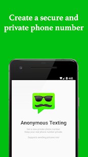 Anonymous Texting - Keep your real number private