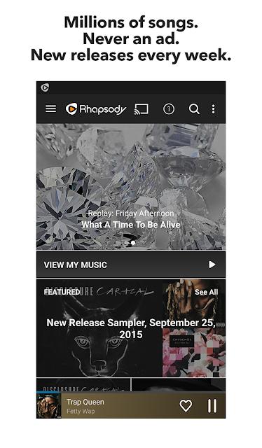 Rhapsody Music Player screenshots