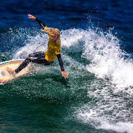 On Approach by Mark Ritter - Sports & Fitness Surfing ( surfer, broam, moonlight beach, surfing, encinitas, california, pacific, wave )