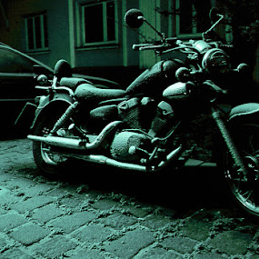 bike by Lorant K. Racz - Transportation Motorcycles ( motorcycle bike snow winter )