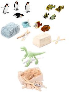 """Набор """"Юный Археолог"""" Динозавр, Пигвины и Рыбы"""