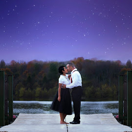 Midnight Engagement by Ashley McCoy - People Couples ( night time, lake, elizabethtown, kentucky, engagement, couples )