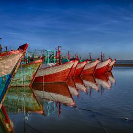 .:: red boats ::. by Setyawan B. Prasodjo - Transportation Boats