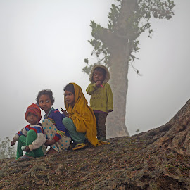 gathering at cold morning by Asif Bora - Babies & Children Children Candids
