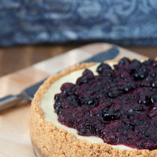 New York-Style Blueberry Cheesecake