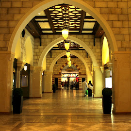 The Souq by Roshni Tito - Buildings & Architecture Architectural Detail ( souq, uae, artistic, symmetry, repetition, mall )