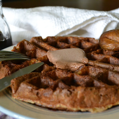 Banana-Chai Buttermilk Waffles with Cocoa-Coconut Butter