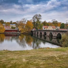 by Nikos Diavatis - Buildings & Architecture Bridges & Suspended Structures ( cloudscape, cloud, bridge, river )