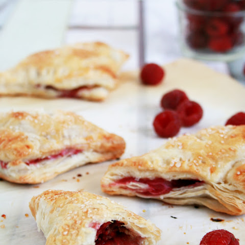 Chocolate Raspberry Puff Pastry Turnovers
