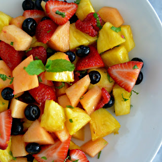 Fresh Mint and Orange Blossom Fruit Salad