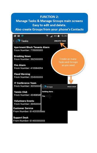 Auto Forward SMS For Android - screenshot