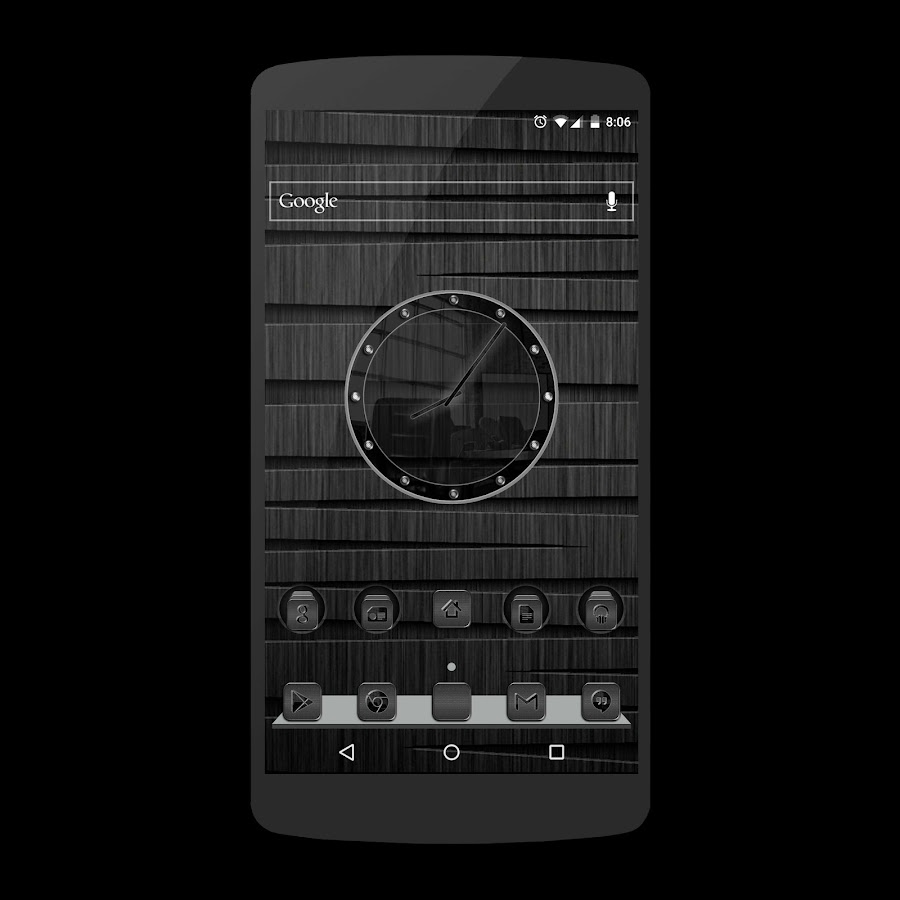 Black Glass Icons Screenshot 5