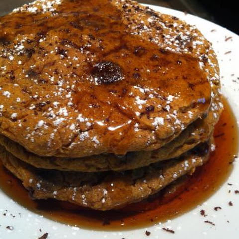 Baked Pumpkin Chocolate Chip Pancakes