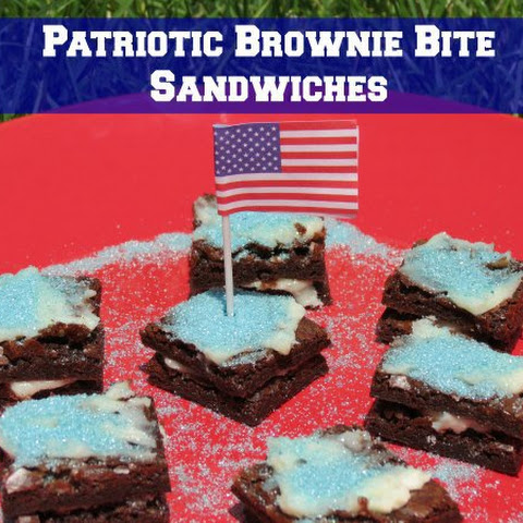 Patriotic Brownie Bite Sandwiches