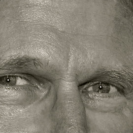 The Eyes Have It II by Kathleen Koehlmoos - People Body Parts ( attractive eyes, focus on the eyes, focus on eyes, black and white photography, nice eyes,  )
