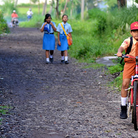Go to School by Teguh Gogo - Babies & Children Children Candids