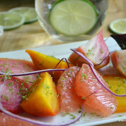 Grapefruit and Roasted Beet Salad with Lime Vinaigrette
