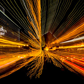 Waterfront zoom by Efraim van der Walt - Abstract Light Painting ( colour, night photograph, light paintng, cape town,  )