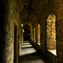 Earl's Palace corridor by Paula Johnston - Buildings & Architecture Public & Historical ( orkney, earls palace, historical, palace, kirkwall )