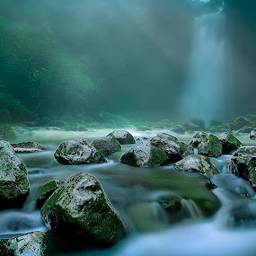 Let it Flow by Suloara Allokendek - Landscapes Waterscapes ( water, waterfall, stone, ss, light )