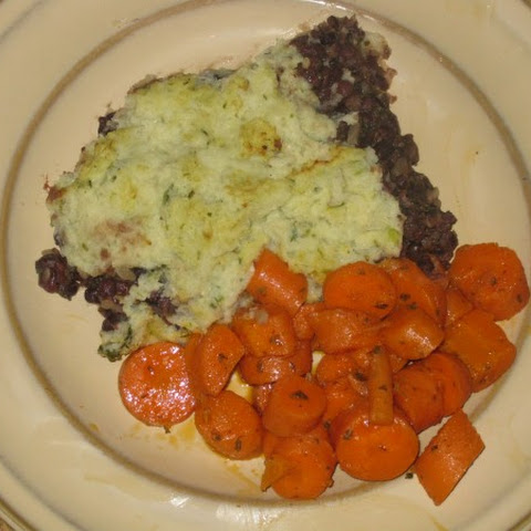 Adzuki Bean Shepherd's Pie (with Low Carb Topping)