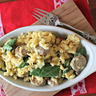 Macaroni and Cheese Recipe With Sausage and Spinach