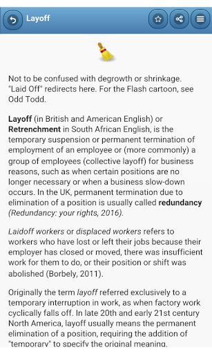 Labor law - screenshot
