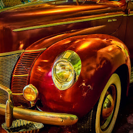 Old Ford Deluxe by James Kirk - Transportation Automobiles ( car, red, ford, antique )