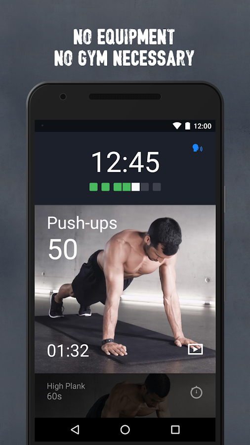 Runtastic Results Workout App Screenshot 1