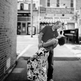 Be Still My Heart by Jane Moore - People Couples ( pontiac il photographer, engagement photo kankakee, black and white photography )