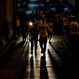When light doesn't support.Rajkot Marathon 2017 by Nirav Mehta - City,  Street & Park  Street Scenes