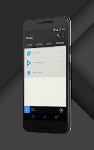 Sense Black/Blue cm13 theme- screenshot thumbnail